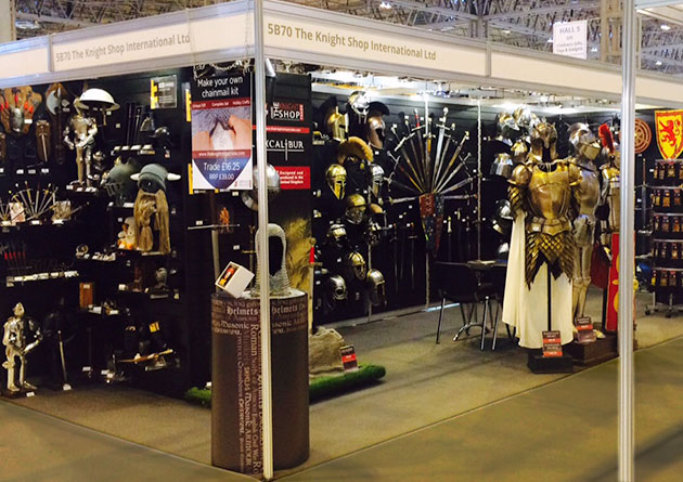 The Knight Shop Trade at  the NEC Spring Fair - UK largest supplier of historical swords, armour and historical giftware